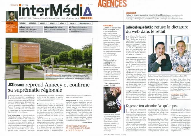 InterMédia accorde à La République du Clic un nouvel article dans ses pages...