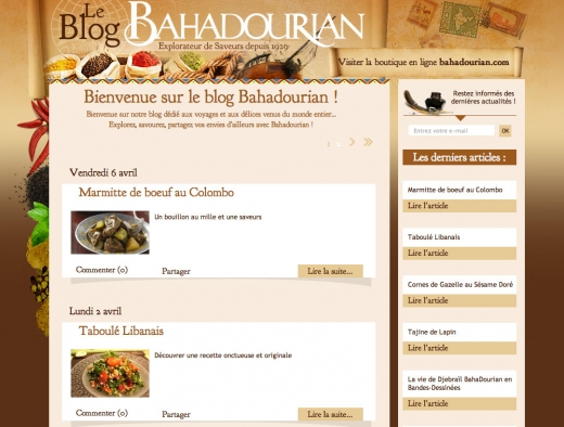 SORTIES DE LA SEMAINE : Blog Bahadourian