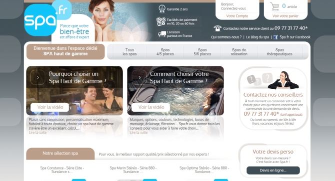E-commerce : lancement de spa-haut-de-gamme.fr, l'espace dédié au spa haut de gamme