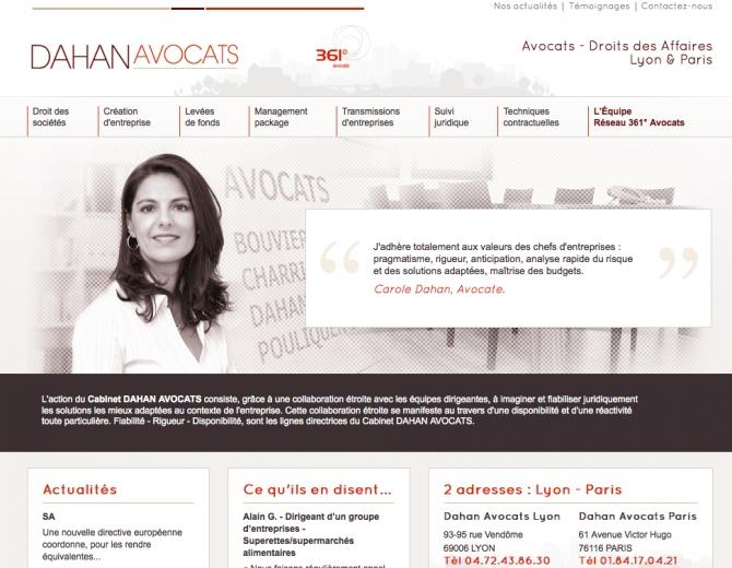 Dahan Avocats choisit La République du Clic pour son nouveau site web