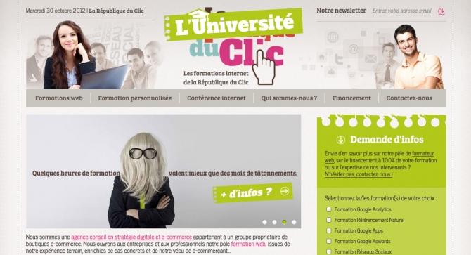 FORMATION WEB : Découvrez l'Université du Clic