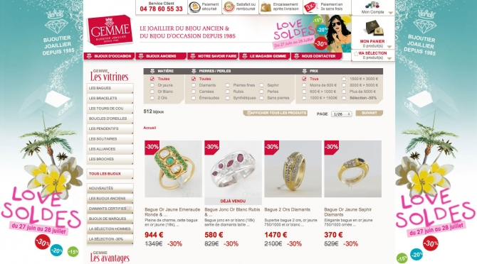 Optimisations du site Gemme les Bijoux