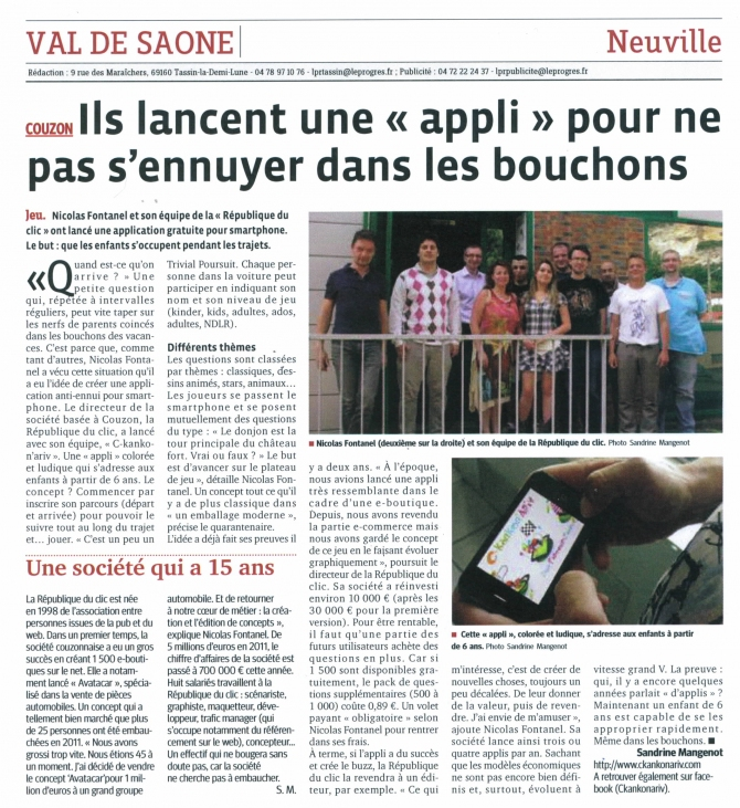 Nouvelle application C-kankon'Ariv : la revue de presse !
