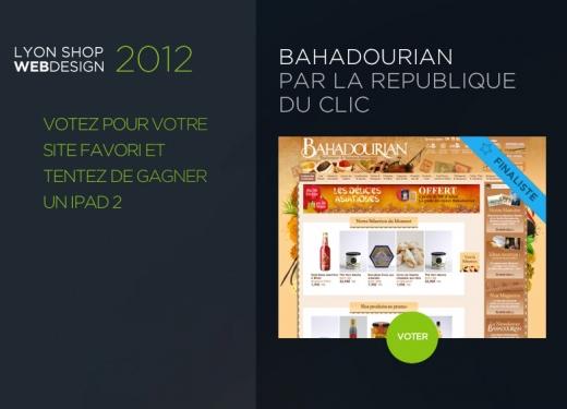 La République Du Clic participe au concours LYON SHOP WEBDESIGN 2012 !