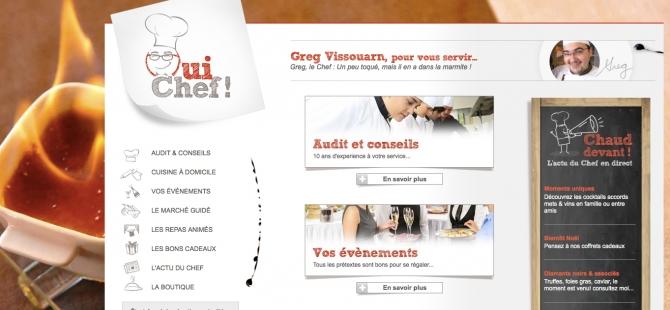 Oui Chef : Nouveau site internet du chef cuisinier Greg Vissouarn